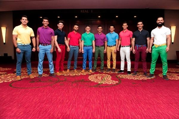 Decena. Estos son los jóvenes que buscan la banda de este concurso masculino. John Durán.