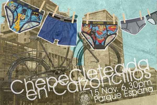 La ChepeCleteada en Calzoncillos sale del Parque España a las 6:30 p.m.