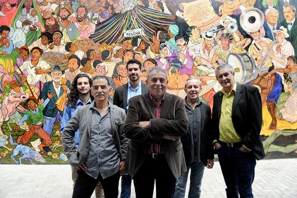 En el Museo Municipal de Cartago hay un mural sobre la historia de la provincia brumosa. Los Hicsos destacan entre las figuras importantes del lugar. Fotos Melissa Fernández