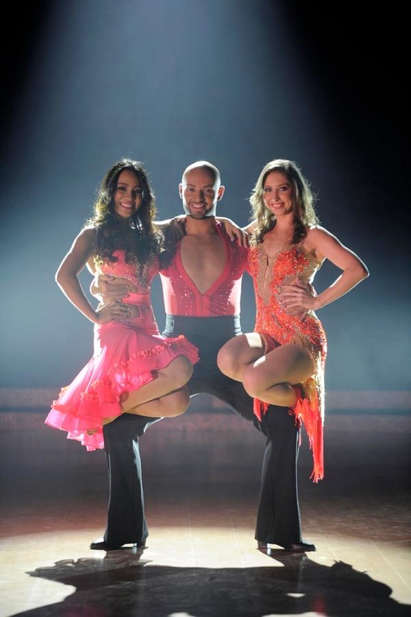 Amigos no rivales. Yessenia Reyes, Michael Rubí y Lucía Jiménez son los tres coreógrafos finalistas de la tercera temporada de Dancing with the Stars Costa Rica. Diana Méndez.