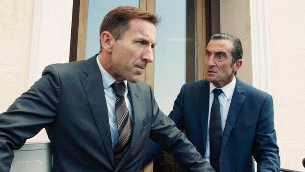 Antonio de la Torre y Luis Zahera en una de las mejores secuencias de filme político español. Fotografía: Romaly para La Nación