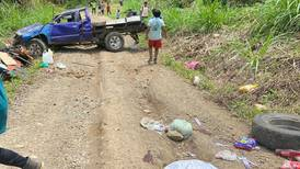 Una fallecida y 10 heridos deja accidente de 'pick up' en Grano de Oro de Turrialba