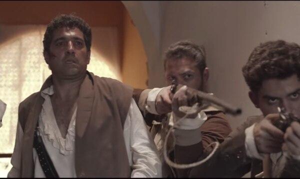 El actor colombiano, Orlando Valenzuela, es quien encarna a Francisco Morazán en la película. Captura de pantalla, Youtube.