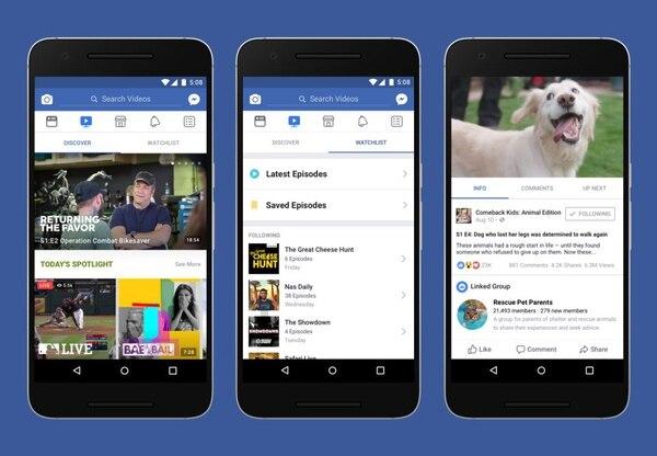 Episodios grabados e intervenciones en tiempo real serán parte de la oferta de esta nueva plataforma de videos, lanzada por Facebook.