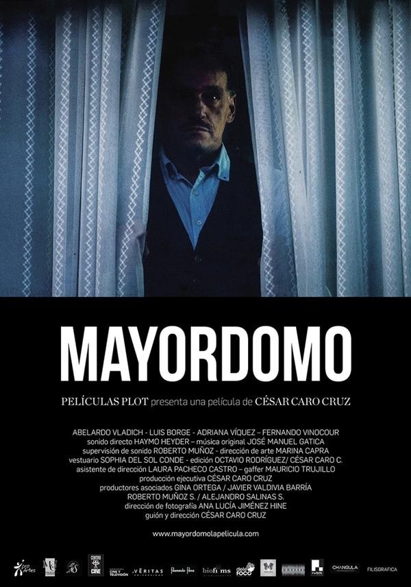 Póster oficial de 'Mayordomo'. Luis Borge es uno de los protagonistas de la cinta.