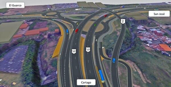 En el intercambio de La Lima se construirán dos rotondas y dos pasos superiores, además un paso inferior o túnel con lo que la intersección tendrá en total cuatro niveles.