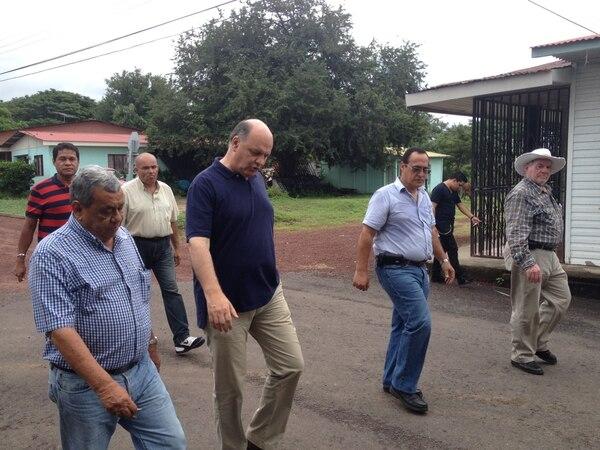 Rodolfo Piza fue a Guanacaste este sábado con el fin de dar a conocer las propuestas del PUSC