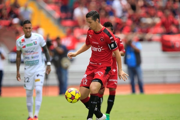 Pablo Gabas jugó 45 minutos contra Once Caldas.
