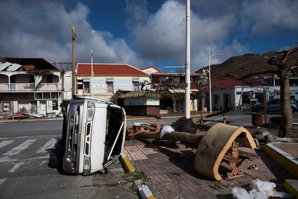 Devastación en San Martín, luego del paso de Irma.