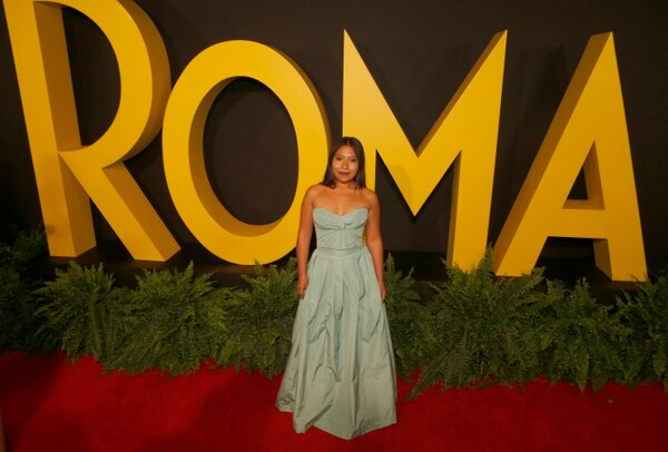 Yalitza Aparicio en la presentación de 'Roma' en Ciudad de México, el 17 de diciembre del 2018.