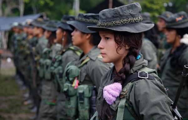 Los soldados de las FARC en las junglas colombianas de Putumayo. AFP.