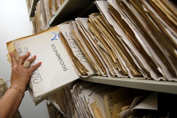 El Patronato Nacional de la Infancia digitalizará 50 millones de folios correspondientes a las historias de 23.000 expedientes de menores de edad tutelados por la institución. Fotografía: Mayela López