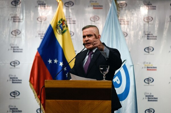 El fiscal general, Tarek Saab, se refirió a la captura del general Alejandro Pérez en una conferencia de prensa, este martes 14 de agosto del 2018.