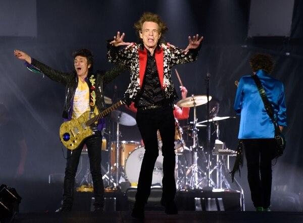 Rolling Stones durante una presentación en agosto del 2019 en Miami. AFP