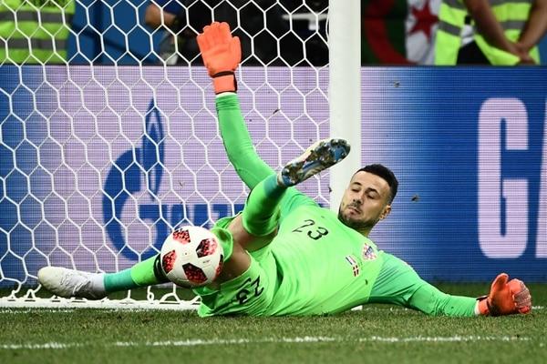 Danijel Subasic detuvo tres penales para convertirse en la figura de Croacia. Fotografía: AFP.