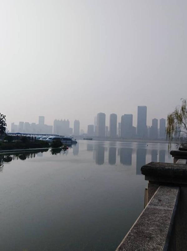 Esta es la ciudad de Wuhan, China. Fotografía: Paola Reyes Pérez