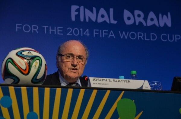 Joseph Blatter guió la conferencia de prensa luego de la reunión del Comité Ejecutivo de FIFA.
