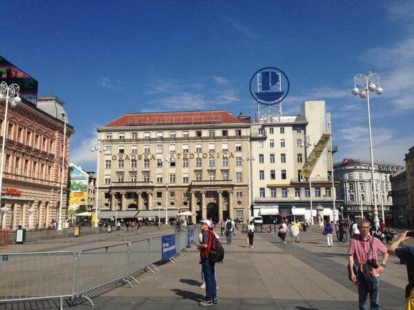 Plaza Ban Jelacic, en Zagreb, Croacia. Fotografía: Jairo Villegas S.