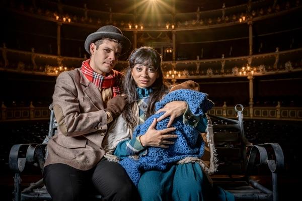 Isabel Guzmán y Melvin Méndez son parte del elenco de este musical. Guzmán ingresa este año al montaje. Foto: cortesía TE