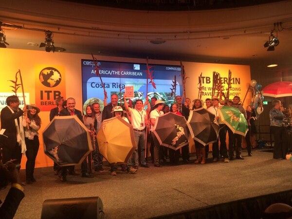 La representación de Costa Rica en la feria de turismo ITB de Berlín.