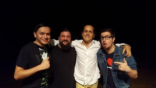 Zuzurro, Diego, Joel y Edwin en Colombia. | CORTESÍA PABLO FLORES