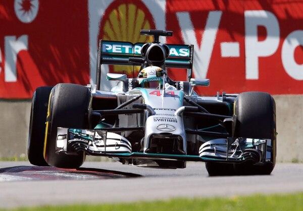 El piloto británico Lewis Hamilton este sábado durante los ensayos del Gran Premio de Canadá de Fórmula Uno que se correrá el domingo.