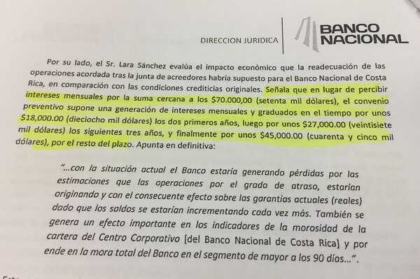 El Banco Nacional presentó una de denuncia penal por una presunta estafa, por el caso de Yanber, el pasado 13 de julio del 2016.