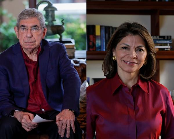 Óscar Arias y Laura Chinchilla, expresidentes de la República.