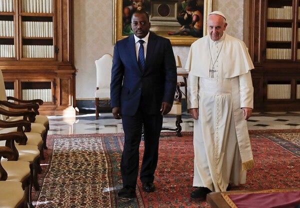 El papa Francisco recibió en audiencia, el lunes, al presidente de la República Democrática del Congo, Joseph Kabila.