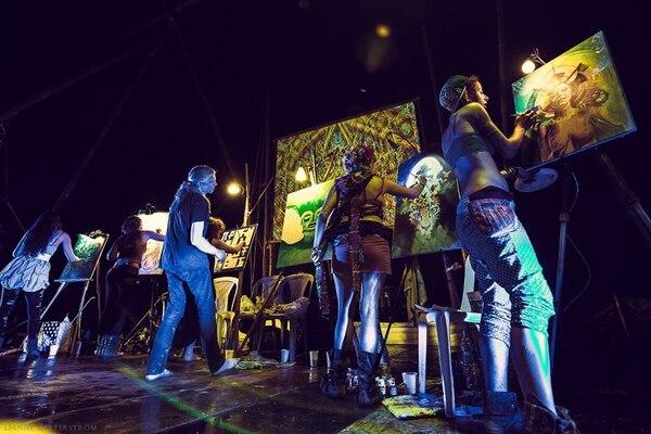 Arte, música, pintura, espiritualidad y comunidad son algunos de los pilares del festival Envision. Fotografía: Cortesía de Daniel Zetterstrom/Festival Envision.