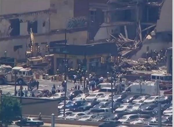 Colapso de edificio en Filadelfia, Estados Unidos, causa varias hospitalizaciones - 1