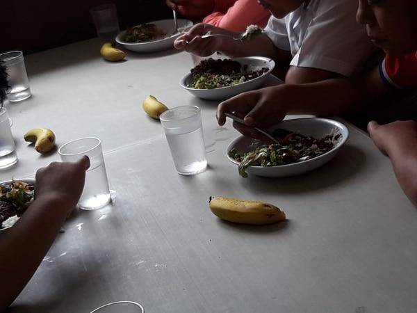 Comedor de la escuela Mauro Fernández en San José Centro.