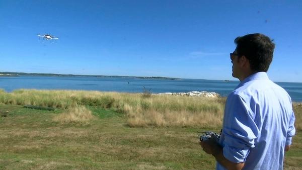 El dron voló en una ruta programada de 4,8 km sobre el Atlántico.