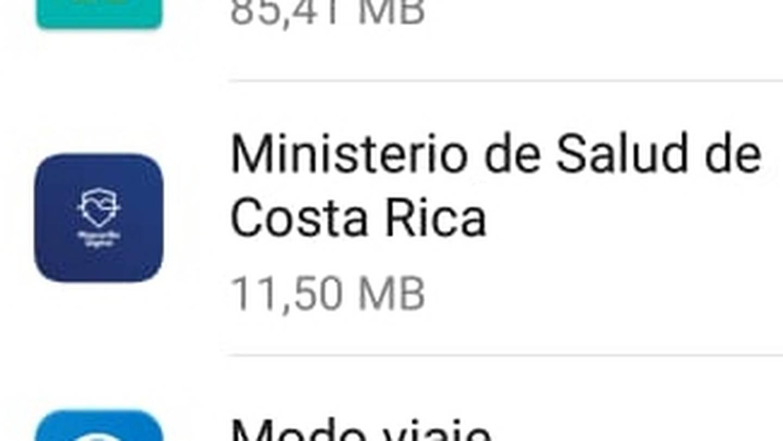 El icono de la aplicación para celulares del ministerio de Salud, Mascarilla Digital, comenzó a aparecer en los celus de la gente entre el 12 y 13 de junio del 2021