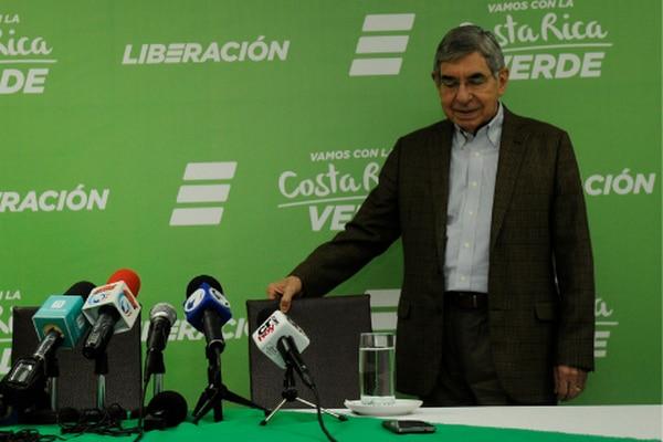 Óscar Arias, expresidente de la República.
