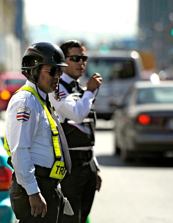 La Policía de Tránsito tiene en planilla 763 oficiales para cubrir tres turnos diarios en las siete provincias. | ARCHIVO/ PABLO MONTIEL