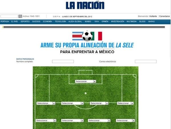 Construya su alineación de la Sele para los partidos ante México - 1