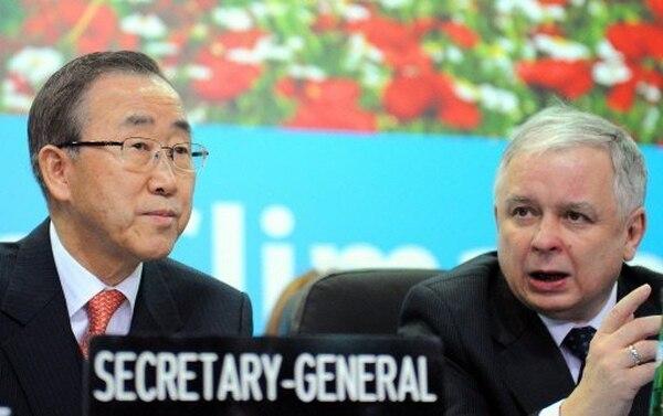 El secretario general de Naciones Unidas, Ban Ki-moon, podría convocar una cumbre de jefes de Estado y de Gobierno sobre cambio climático coincidiendo con la Asamblea General de la ONU en septiembre en Nueva York, anunció el jueves 11 en Poznan. | AFP