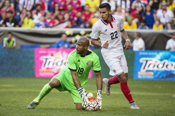 Patrick Pemberton (18) y Rónald Matarrita estuvieron presentes en el fogueo de Costa Rica ante Brasil, el pasado 5 de setiembre en Nueva Jersey. Matarrita debutó con la Tricolor mayor en este juego. | JOSÉ CORDERO