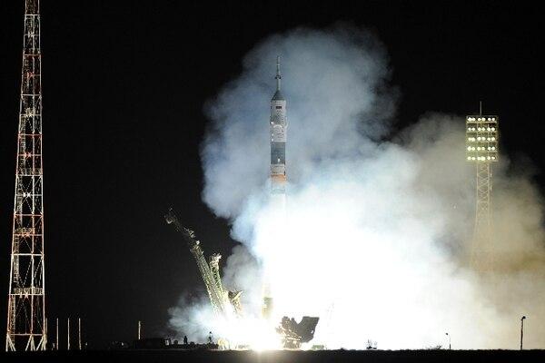 La nave Soyuz despegó desdeel Cosmódromo Baikonur en Kazajstán, Rusia   KIRILL KUDRYAVTSEV/AFP
