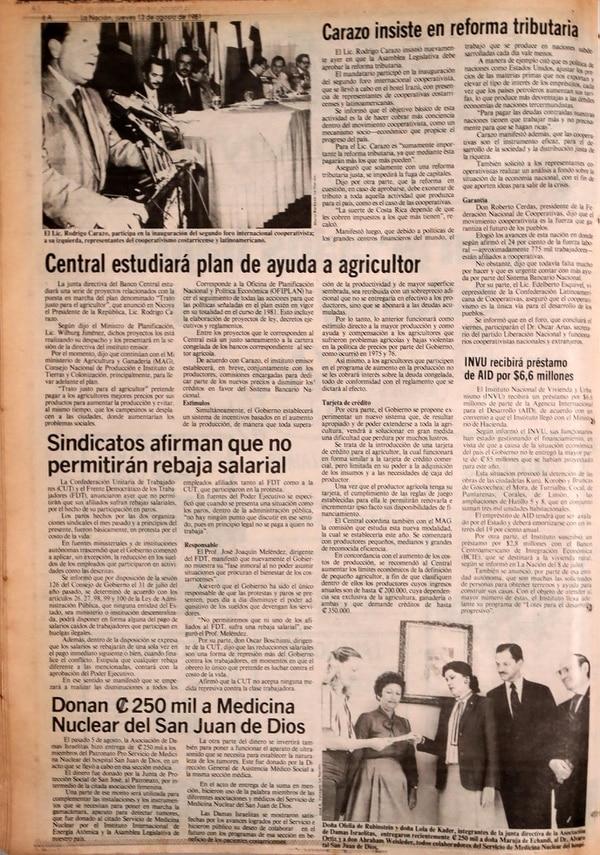 Reproducción de La Nación del 13 de agosto de 1981.