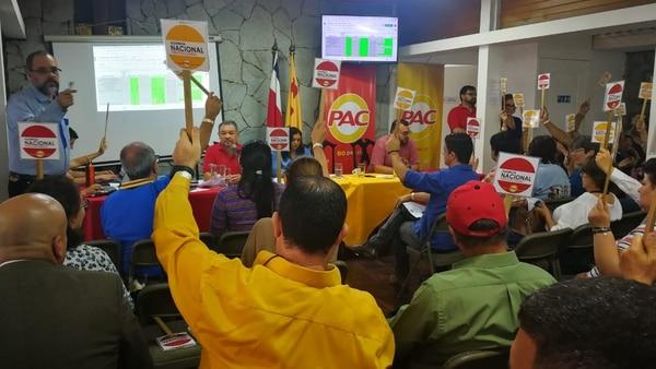 Uno de los principales errores que cometió la Asamblea Nacional del PAC fue designar candidatos sin que se celebraran asambleas cantonales. Foto: Sofía Chinchilla.