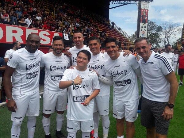 Sebastián Retana jugó en el equipo de los amigos de Pablo Gabas. Fotografía: Cortesía