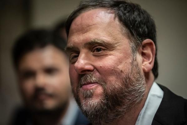 El líder del partido Esquerra Republicana de Catalunya, Oriol Junqueras, asistió al Parlamento español, en Madrid, el lunes 20 de mayo del 2019. Foto: AP