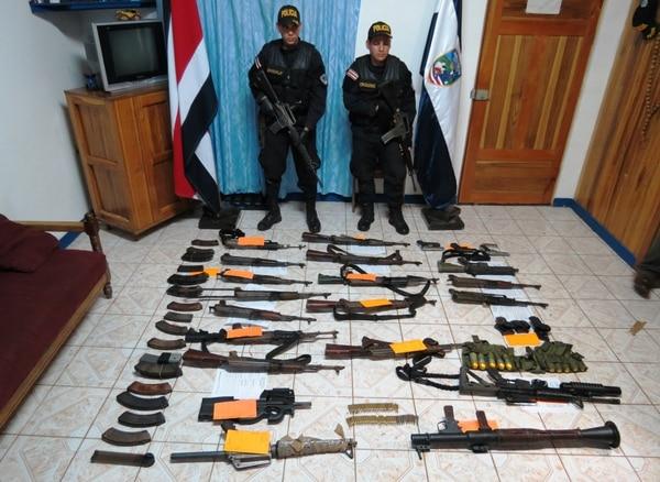 Parte del armamento ubicado en Cutris, a unos seis kilómetros de la línea fronteriza con Nicaragua.