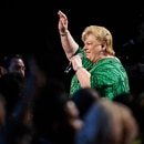 Paquita La Del Barrio performs at the 14th Annual Latin Grammy Awards at the Mandalay Bay Hotel and Casino on Thursday, Nov. 21, 2013, in Las Vegas. (Photo by Chris Pizzello/Invision/AP)