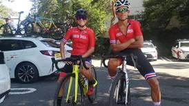 Andrey Amador y María José Vargas se apoyan entre ellos para el desafío olímpico en bicicleta
