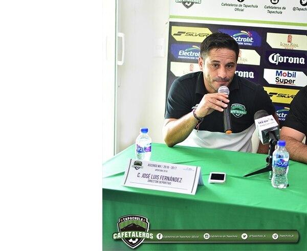 José Fernández, en 2017, fue director general y deportivo de Cafetaleros de Tapachulas, equipo de la Liga de Ascenso de México. Fotografía: Facebook de Cafetaleros de Tapachulas