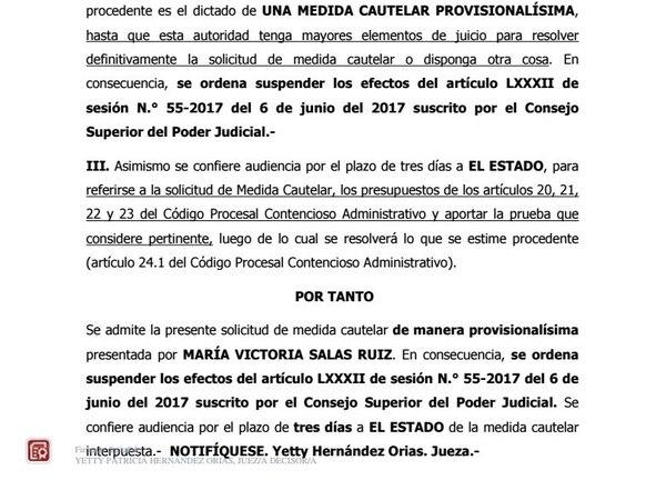 El Tribunal Contrencioso ordenó, el pasado 8 de junio, suspender la decisión del Consejo Superior. Al Estado se le dieron tres días de plazo para presentar sus argumentos.
