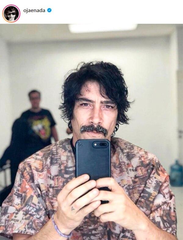 Este 'selfie' es muy significativo para Óscar: justo lo publicó en Instagram el día que arrancó la grabación de 'Luis Miguel, la serie'. En los zapatos de Luisito Rey... por primera vez y, probablemente, para siempre... al menos en las memorias de millones de fans. Foto: Instagram.